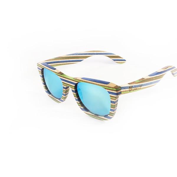 nor-videz-lesena-sončna-očala-Rainbow-Blue
